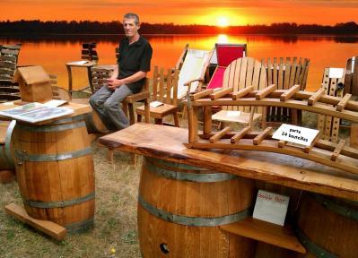 mobilier en bois de barriques